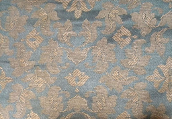 Gorgeous Antique French 19thc Silk Wool Brocade Fabric