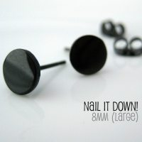 Mens Earrings Black Stud Earrings for MenNail It by