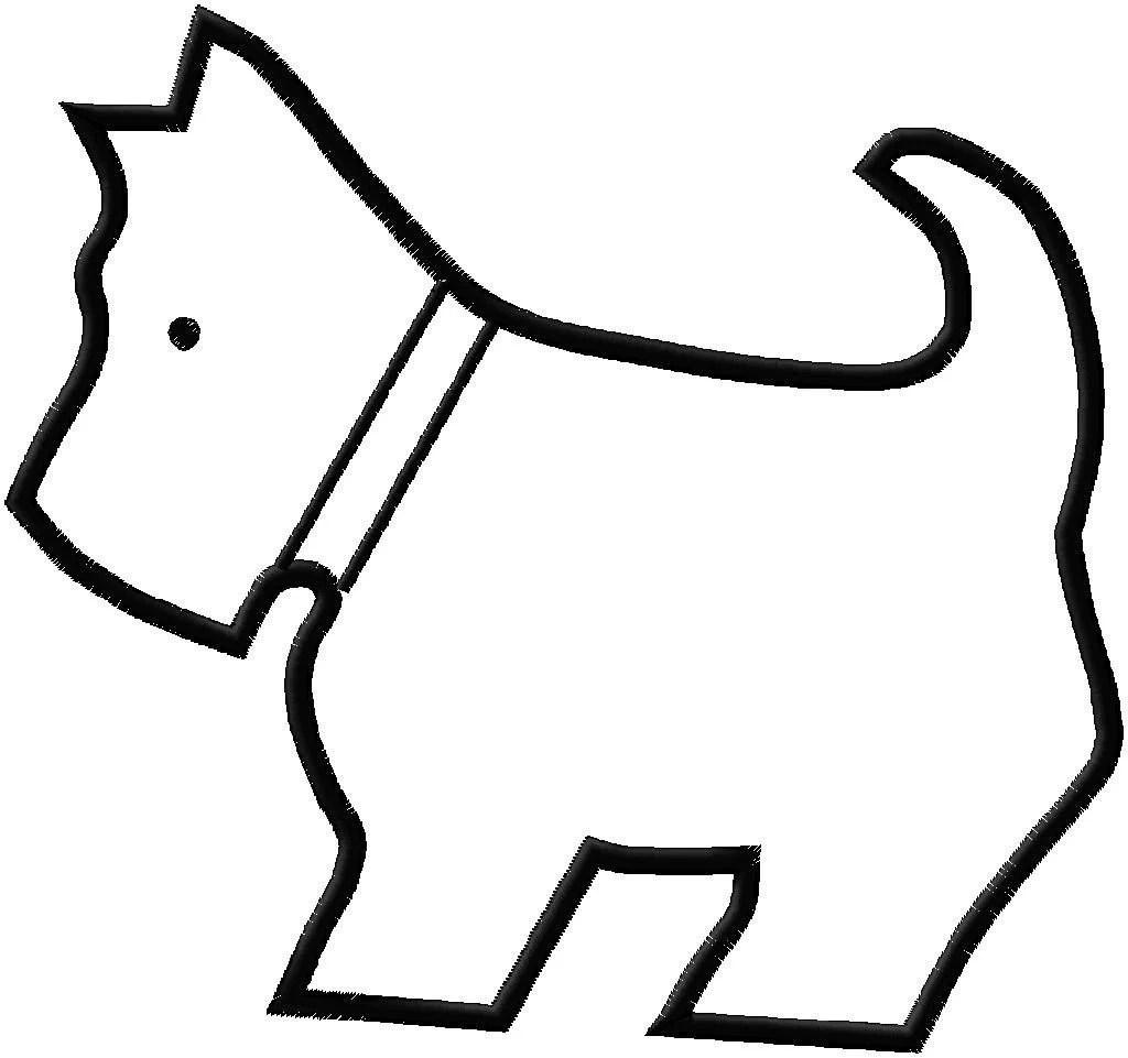 Embroidery Design Applique Scotty Dog