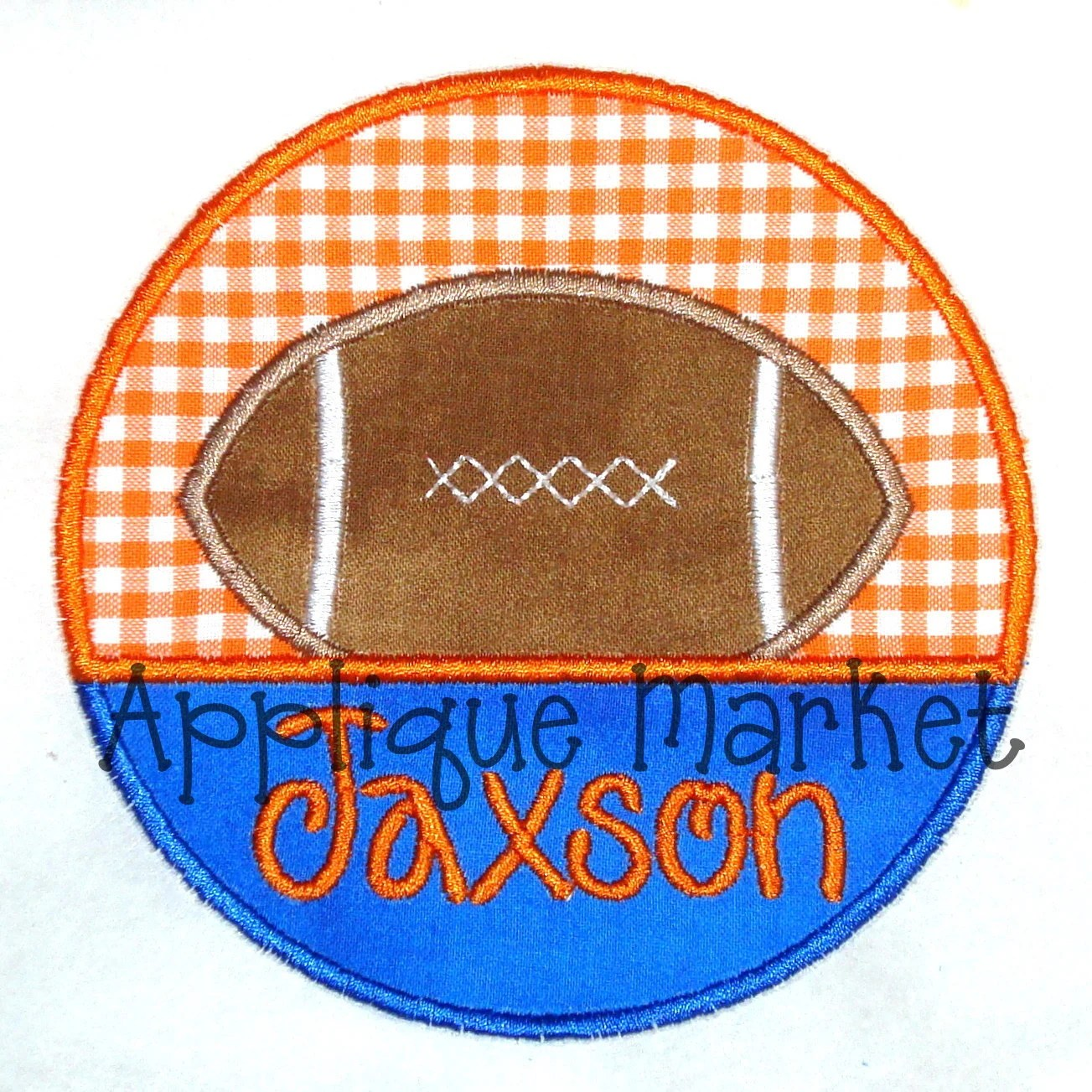 Machine Embroidery Design Applique Football House Divided