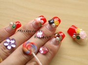 3d nails lolita candy decoden