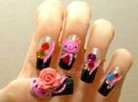 Japanese 3D nails octopus kawaii squid novelty Japanese