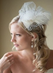 bridal fascinator hat feather