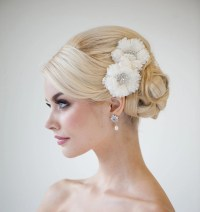 Bridal Silk Flower Hair Clips Wedding Hair Accessory Bridal