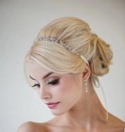 bridal ribbon headband hair
