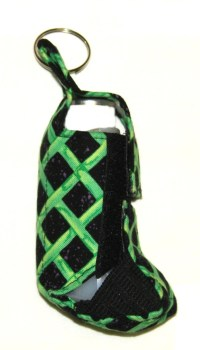 Black with green checker board design inhaler holder