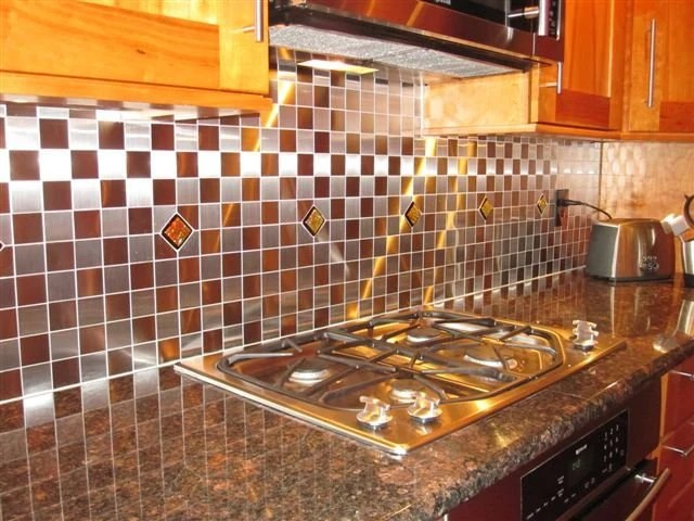 Red Kitchen Backsplash Accent Tile In By UneekGlassFusions