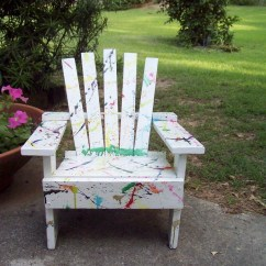 Painted Adirondack Chairs Stand Up Desk Childs Hand Chair With Color Splashes