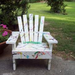 Ideas For Painting Adirondack Chairs Portable Camping Chair Childs Hand Painted With Color Splashes