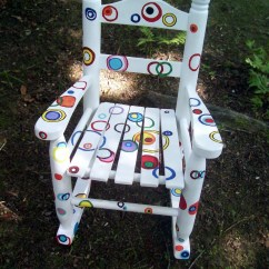 Hand Painted Wooden Chairs Hanging Tree Swing Chair Rocking Rainbow Bubble