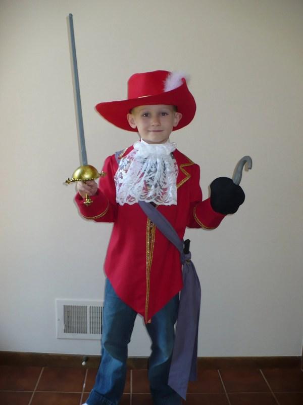 Disney Captain Hook inspired costume size 78 six piece set