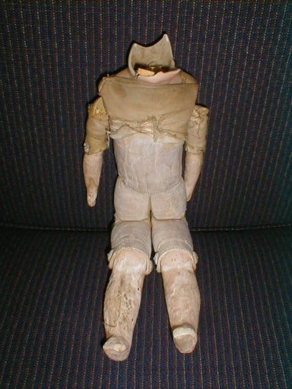 Antique Kid Leather Jointed 12 Inch Doll Body for Repair