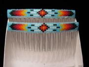 hair combs navajo-beaded feather