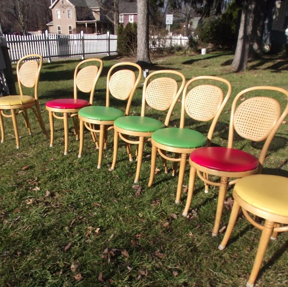 Vintage 80s Bentwood Ice Cream Parlor Chairs 8 Chairs Pick