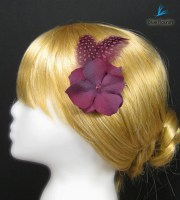 purple hair pin prom clip