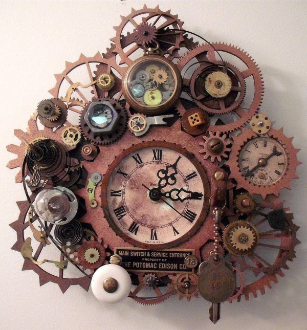 Original Steampunk Clock Cool Gadgets Ekcreations