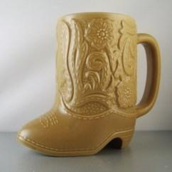Dolphin Kitchen Accessories Molding Vintage Cowboy Boot Mug Ceramarte Brazil