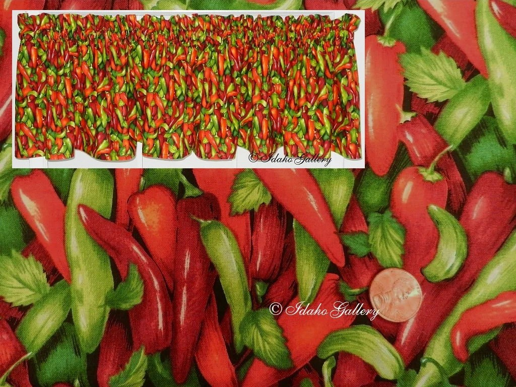 Kitchen Curtains Peppers