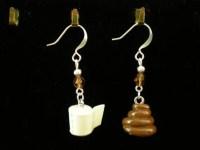 Cute Poop and Toilet Paper Earrings by CharmingAlligator ...