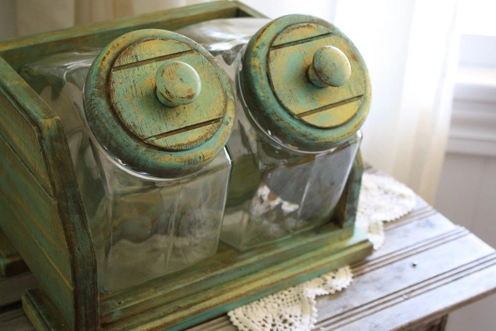Vintage General Store Glass Candy Jars by AWeatheredHome