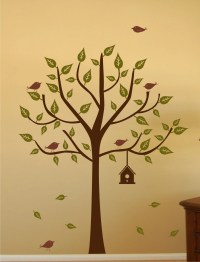 Tree with Birdhouse Set Vinyl Wall Decal