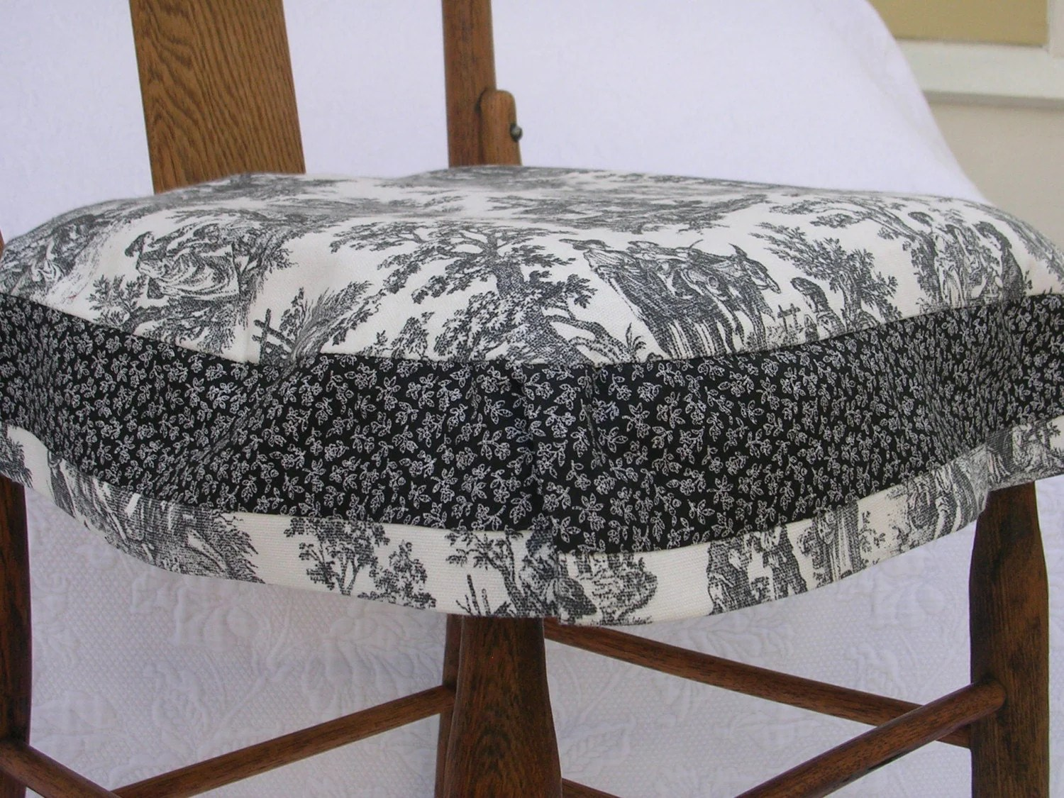 dining chair covers tete a outdoor slipcovers for cushions-black and white toile with