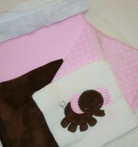 Appliqued Minky Baby Blanket Kit Pretty In Pink Adorable
