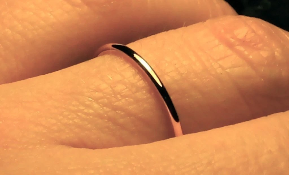 Thin Gold Wedding Band Womens Wedding Ring 13mm Solid 14k