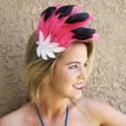 Pink Flamingo Fascinator Feather 1 Of Kind