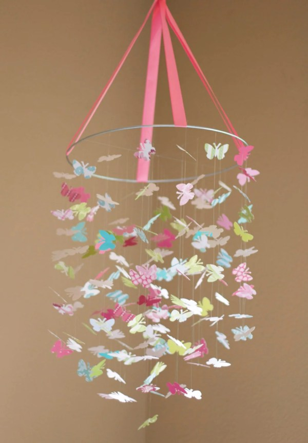 Isabella Butterfly Mobile-great Baby Shower