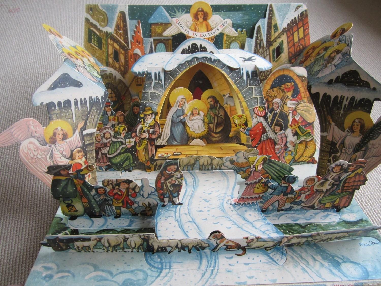 Vintage Pop Up Book V Kubasta Nativity Creche