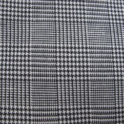 Houndstooth Sofa Fabric Patio Set Canada Black And White Woven Plaid By Bettyandbabs