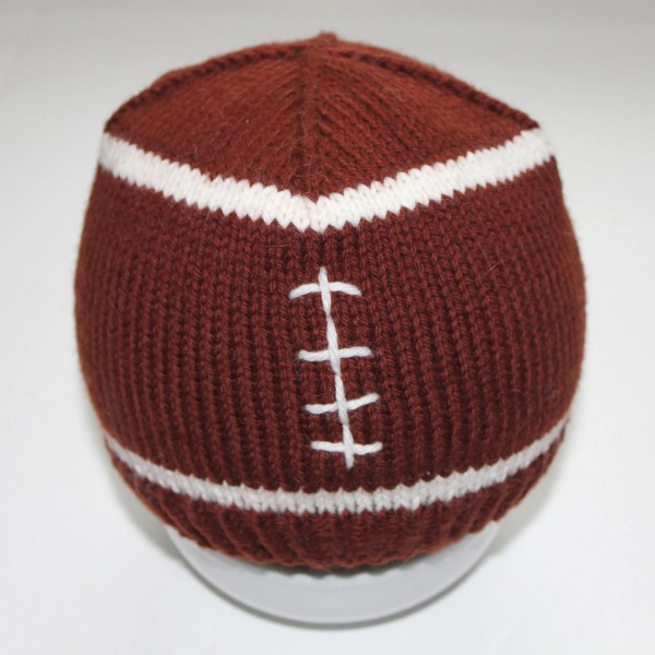 PATTERN Football Baby Hat Knitting Pattern Size 0 to 36 to