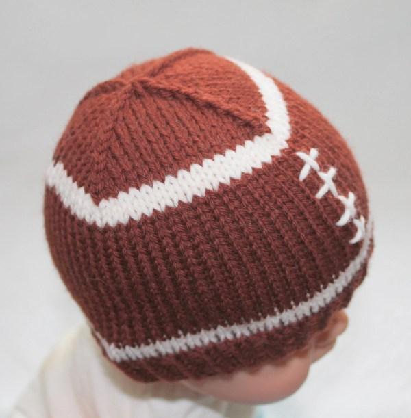 PATTERN Football Baby Hat Knitting Pattern Size by