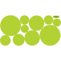 Lime Green Dots Wall Decals Repositionable by WallDressedUp