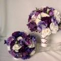 Bouquet silk wedding flowers bridal party accessories artificial