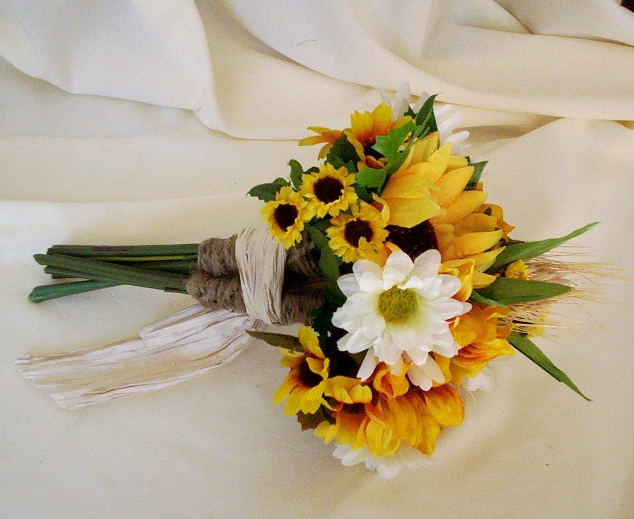 Sunflower Bouquets Wedding Flower Package 17 Pieces custom for