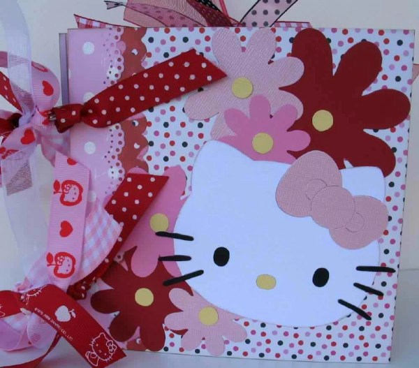 Kitty Scrapbook Chipboard Album 6x6 Memory Book Premade