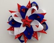 fourth of july hair bow 4th fireworks