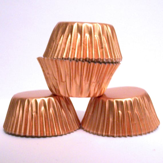 Mini Copper Foil Baking Cups Candy Liners Choose Set of 50