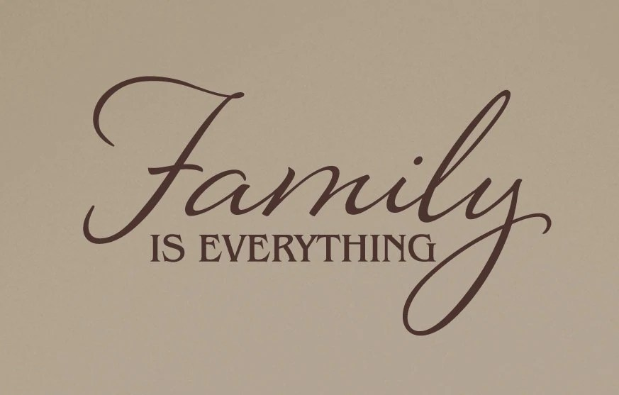Wall Decal Family is Everything Vinyl Wall Decor Home