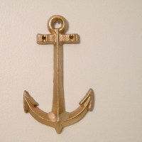 cast iron anchor wall decor large