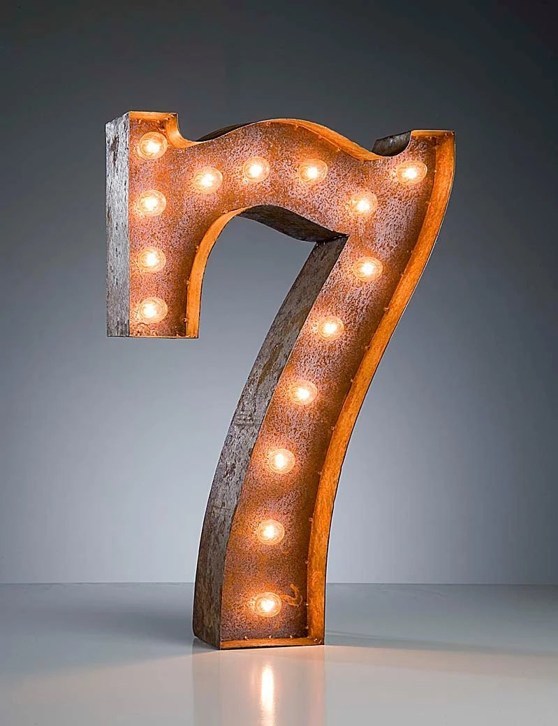 Vintage Marquee Lights - Ready to Ship - Number 7