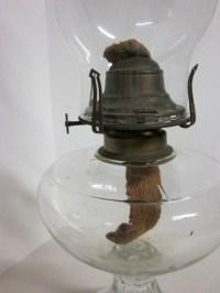 Antique Oil Lamp Brass Queen Anne No.2