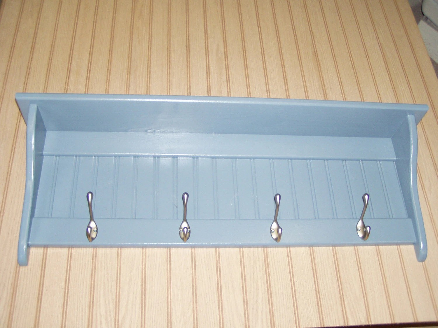 Country Coat Rack Wall Shelf Country Blue
