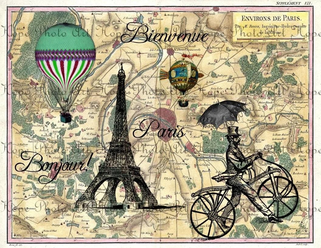 Decoupage Vintage Paris Papers