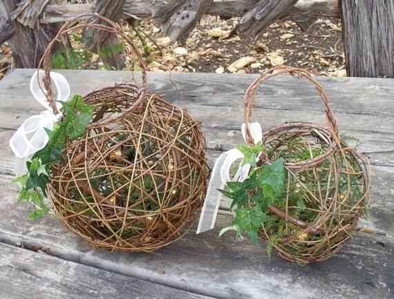 Small Firefly Lantern/ Flower Girl Basket By AprilHilerDesigns