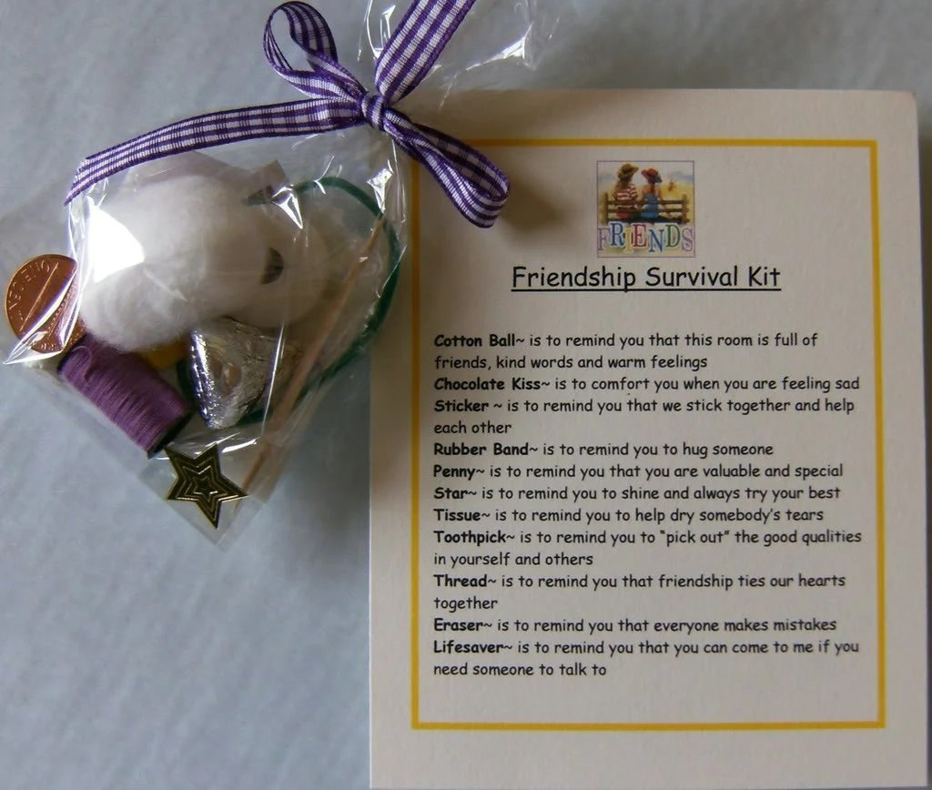 Friendship Survival Kit Cute T For Your Friends