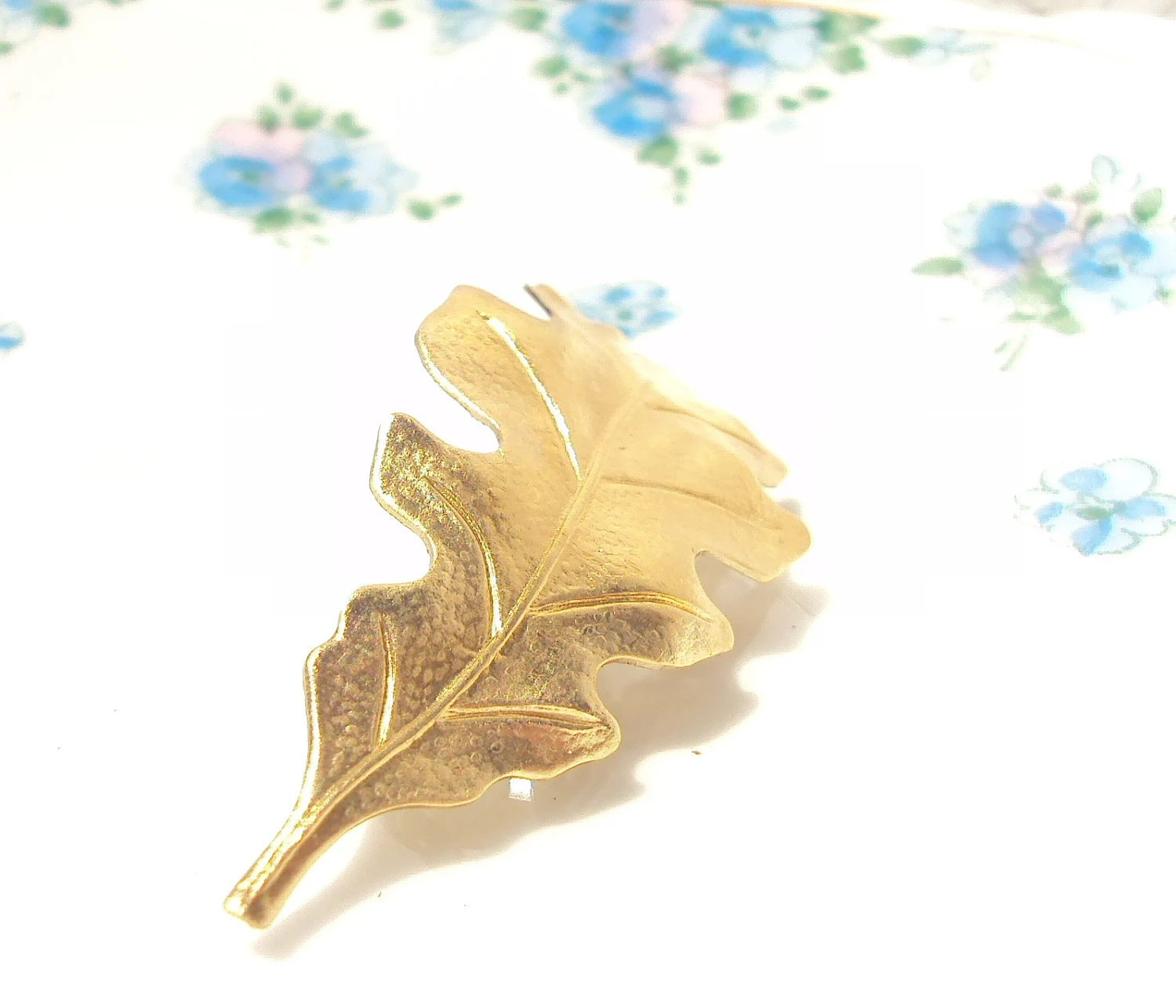 Medium Gold Leaf Hair Barrette - Woodland Collection - Whimsical - Nature - Bridal - NestingPretty
