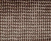 BROWN HOUNDSTOOTH Flannel...